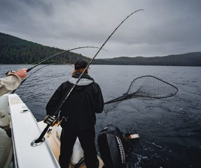trolling salmon without downrigger