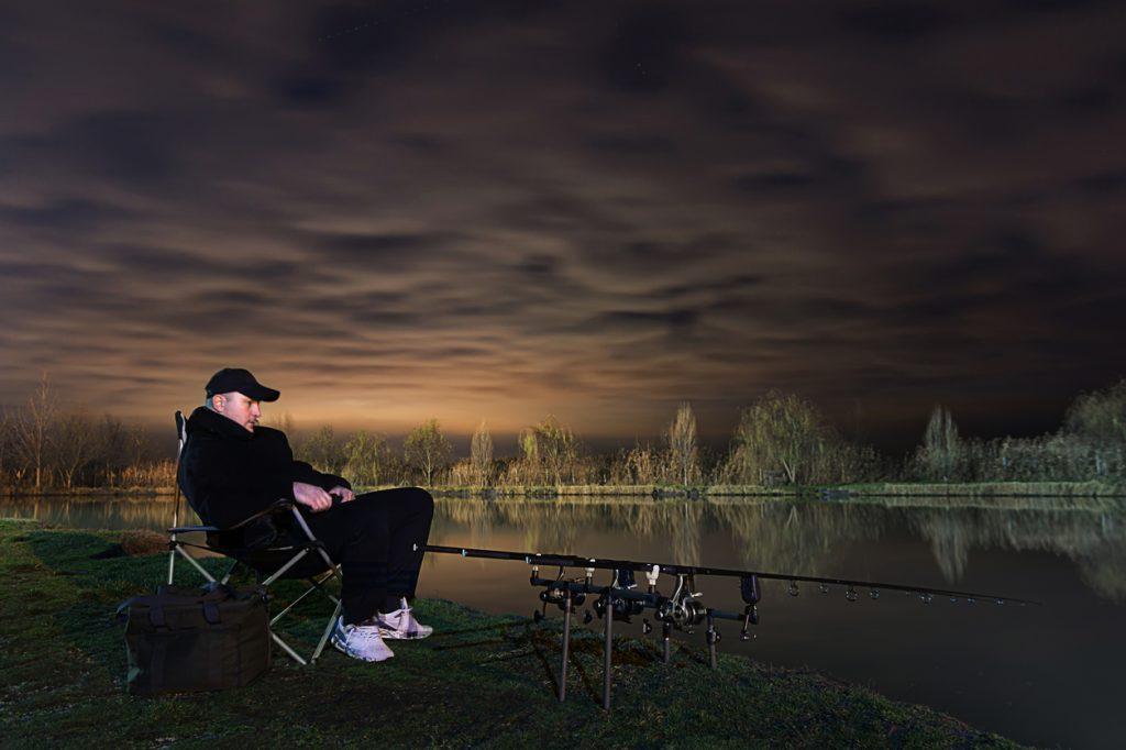 Fisherman in Beautiful night