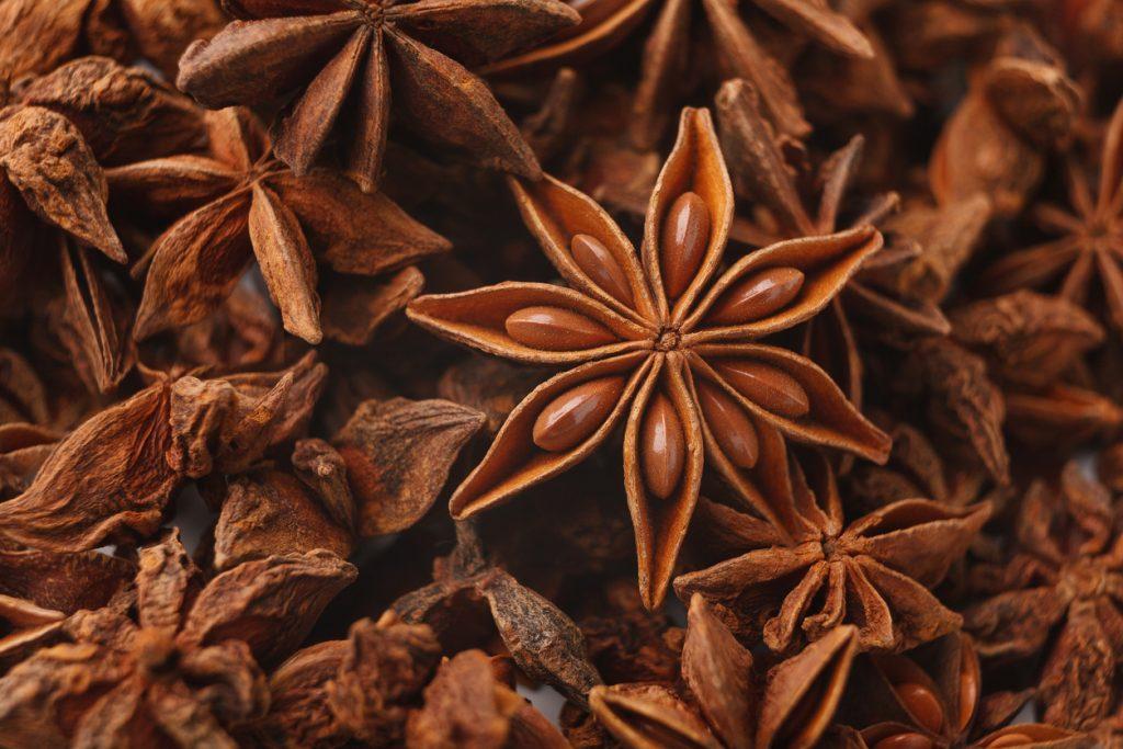 Anise stars spice