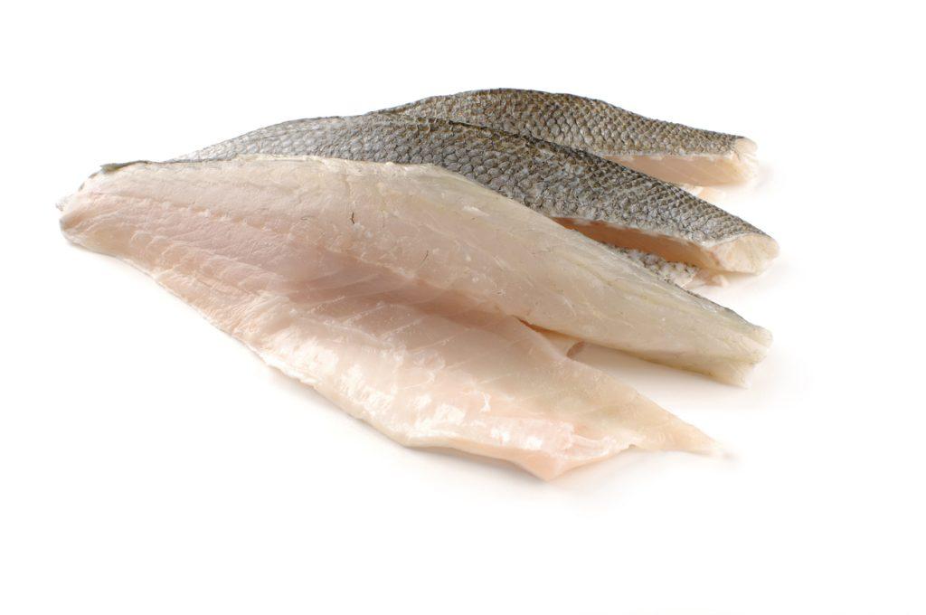 Three sea bass fillet
