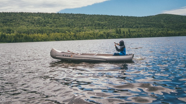 how to fly fish from a canoe