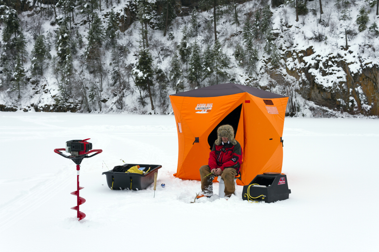 how to stay warm ice fishing